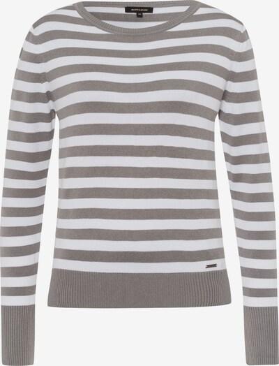MORE & MORE Pullover in grau / weiß, Produktansicht