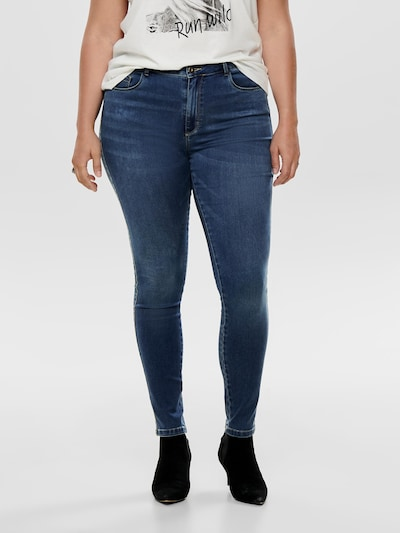ONLY Carmakoma Jeans in blue denim, Modelansicht