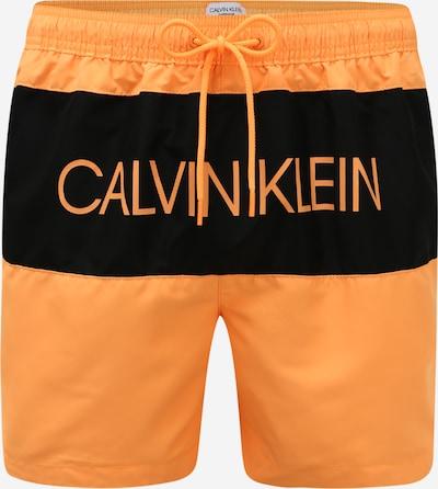 Calvin Klein Underwear Zwemshorts in de kleur Sinaasappel / Zwart, Productweergave