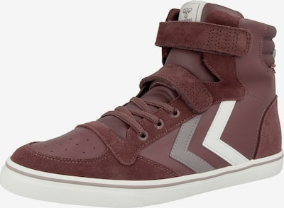 Hummel Sneaker in hellgrau / bordeaux / weiß, Produktansicht