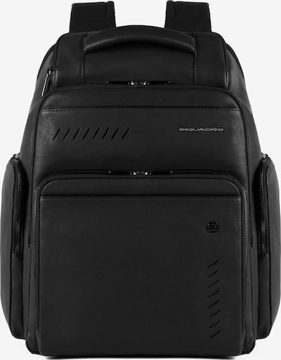 Piquadro Nabucco Fast-Check Rucksack RFID Leder 43 cm in schwarz, Produktansicht