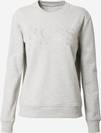 Bluză de molton 'Ebossa' BOSS pe gri amestecat / argintiu, Vizualizare produs