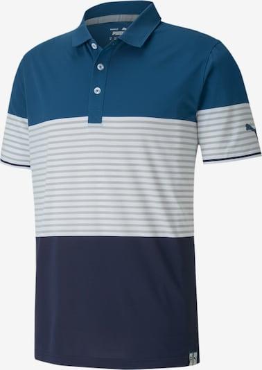 PUMA T-Shirt fonctionnel 'Taylor' en bleu / bleu foncé / gris / blanc, Vue avec produit