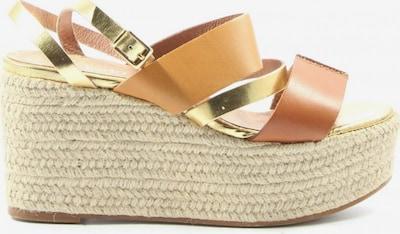 Zalando Sandals & High-Heeled Sandals in 38 in Gold / Light orange, Item view