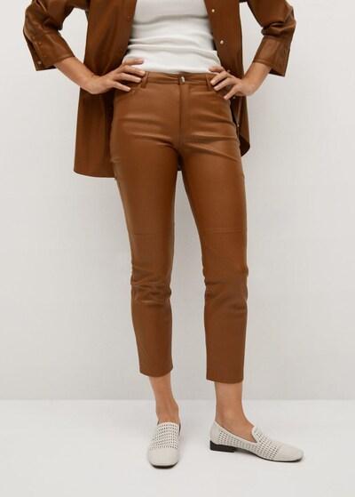 MANGO Broek 'Lille' in de kleur Karamel, Modelweergave