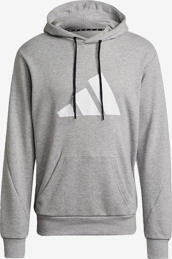 ADIDAS PERFORMANCE Sportsweatshirt in graumeliert / schwarz / weiß, Produktansicht