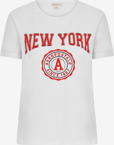tűzpiros / fekete / fehér AÉROPOSTALE Póló 'New York', Termék nézet