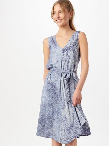 Rochie de la minimum pe albastru