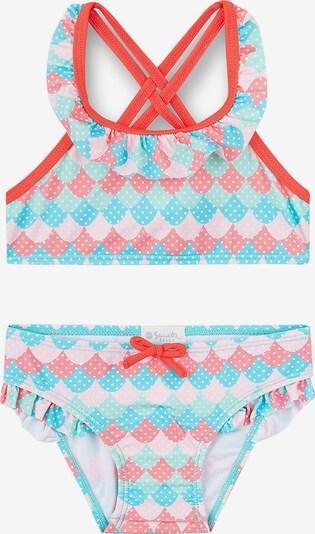 SANETTA Bikini 'UV Schutz 50+' in hellblau / rosa / hellrot, Produktansicht