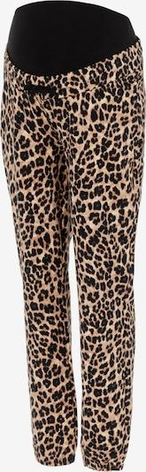 Pantaloni 'Leove' MAMALICIOUS pe bej / maro / negru, Vizualizare produs