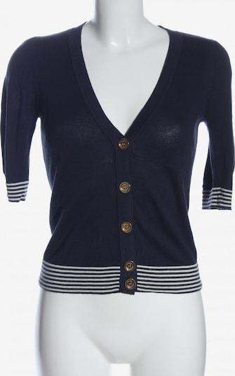 Juicy Couture Kurzarmstrickjacke in S in blau / weiß, Produktansicht