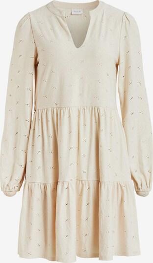 VILA Kleid 'Saniana' in creme / dunkelgrau, Produktansicht