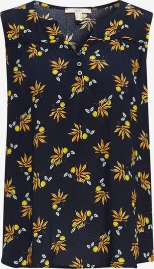 ESPRIT Bluse in navy / gelb / weiß, Produktansicht