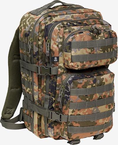 Brandit Rucksack in brokat / hellgrün / dunkelgrün / schwarz / silber, Produktansicht