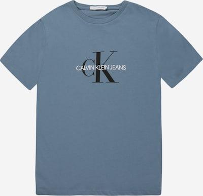 Calvin Klein Jeans T-shirt in taubenblau / schwarz / weiß, Produktansicht