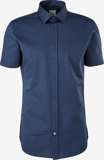 s.Oliver BLACK LABEL Zakelijk overhemd in de kleur Donkerblauw, Productweergave