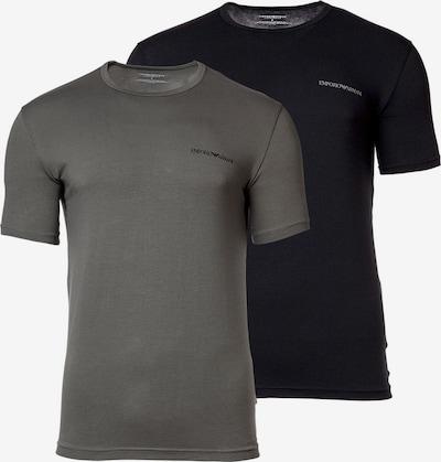 Emporio Armani Shirt in de kleur Donkergrijs / Zwart, Productweergave
