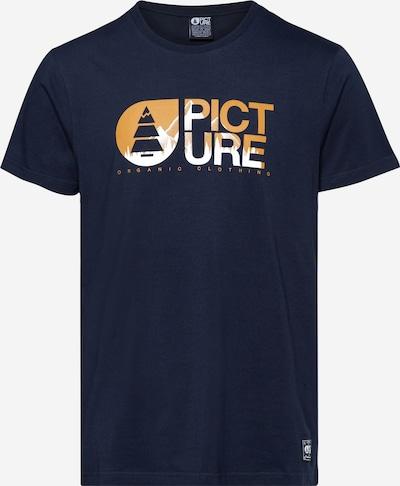 Picture Organic Clothing Functioneel shirt in de kleur Donkerblauw / Honing / Wit, Productweergave
