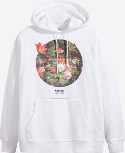 LEVI'S Sweatshirt 'T2 RELAXED' in de kleur Gemengde kleuren / Wit, Productweergave