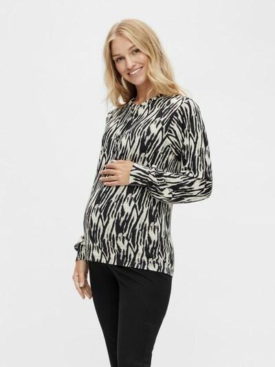 MAMALICIOUS Bluse 'Sebra Lia' in beige / schwarz, Modelansicht