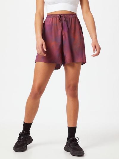 Iriedaily Kalhoty - tmavě fialová / červená / červenofialová, Model/ka
