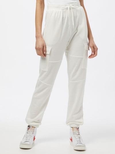 JACQUELINE de YONG Cargo trousers 'BIRMINGHAM' in White: Frontal view
