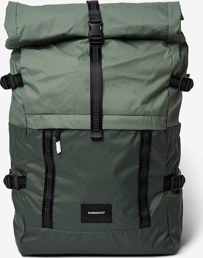 SANDQVIST Plecak 'BERNT' w kolorze khaki / czarnym, Podgląd produktu
