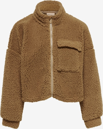 KIDS ONLY Fleece jacket 'Salli' in Brown