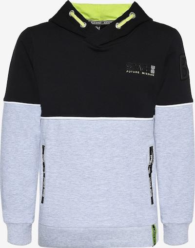 BLUE EFFECT Sweatshirt in hellgrau / schwarz, Produktansicht