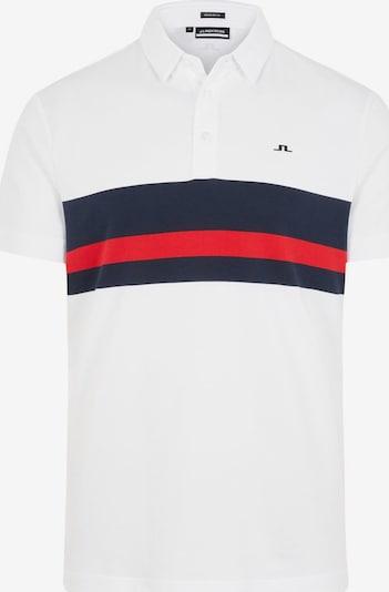 J.Lindeberg Poloshirt 'Matt' in dunkelblau / rot / weiß, Produktansicht