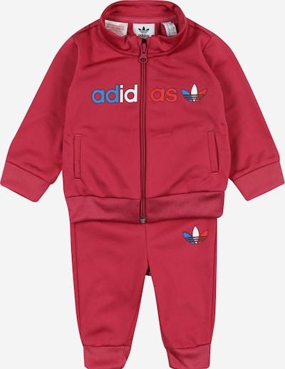 ADIDAS ORIGINALS Jogginganzug in blau / rosa / rot / weiß, Produktansicht