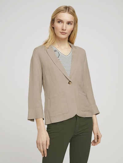 TOM TAILOR Blazer in hellbeige, Modelansicht