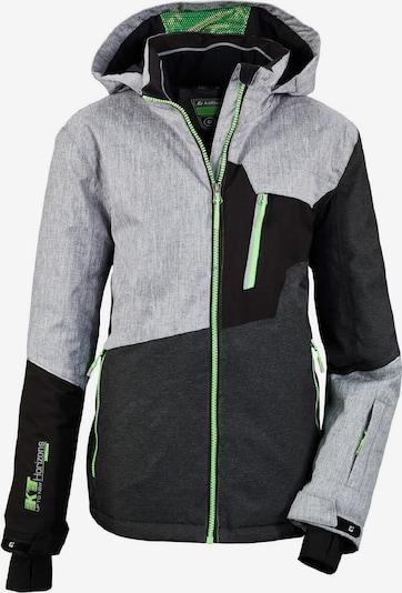 KILLTEC Skijacke ' Glenshee ' in grau / grün / schwarz, Produktansicht
