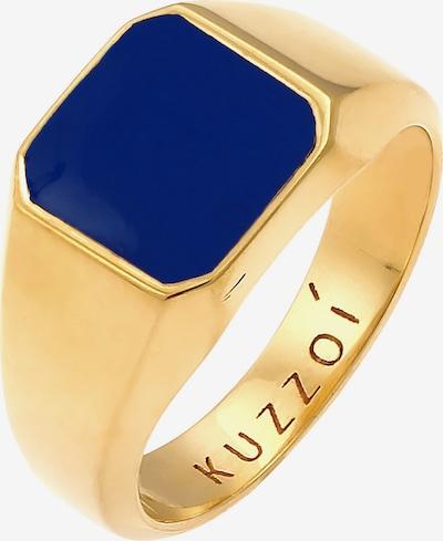 KUZZOI Ring Enamel, Siegelring in dunkelblau / gold, Produktansicht