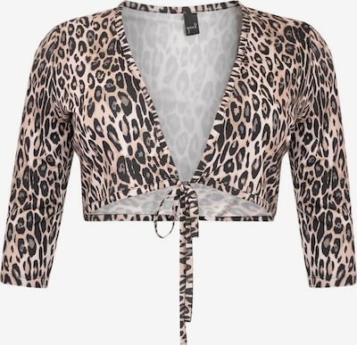 Yoek Bolero ' Leopard ' in braun / schwarz, Produktansicht
