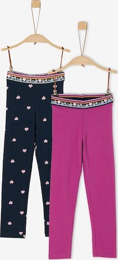 s.Oliver Doppelpack Leggings aus Jersey in dunkelblau / pink, Produktansicht