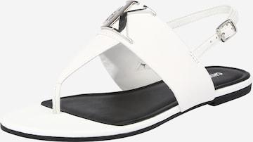 Calvin Klein Jeans Sandale in Weiß