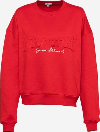 Public Desire Sweat-shirt en rouge / blanc, Vue avec produit