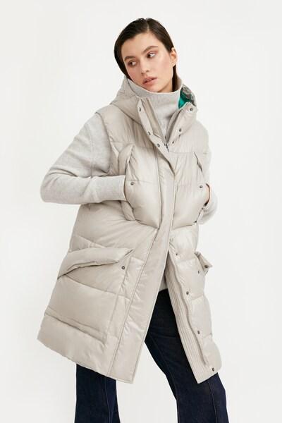 Finn Flare Steppweste in grau, Modelansicht