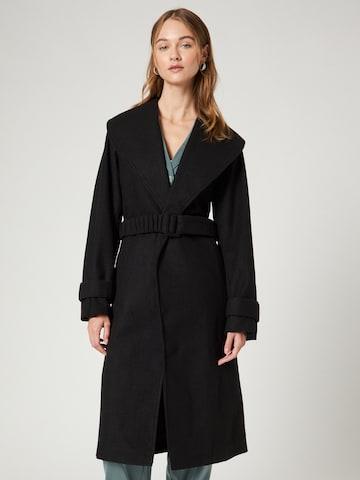 Guido Maria Kretschmer Collection Between-Seasons Coat 'Milena' in Black