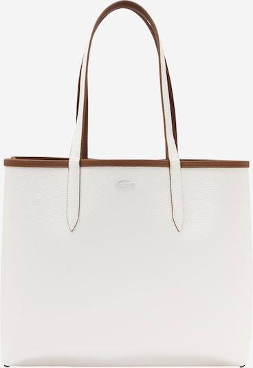 LACOSTE Shopper 'Anna' in braun / weiß, Produktansicht