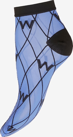 Wolford Chaussettes en bleu fumé / noir, Vue avec produit