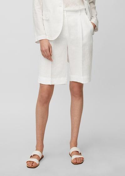 Marc O'Polo Pantalon ' aus reinem Leinen ' en blanc, Vue avec modèle