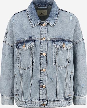 Only Petite Between-Season Jacket 'SAFE' in Blue