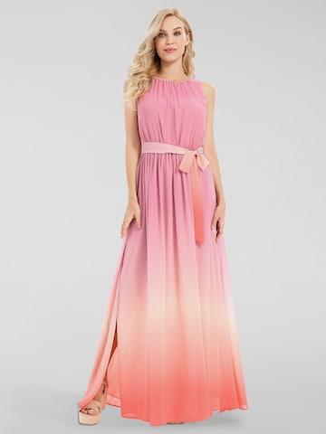APART Chiffonkleid mit Farbverlauf in Pink