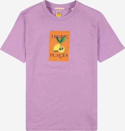 SCOTCH & SODA Majica | rumena / sivka / oranžna barva: Frontalni pogled