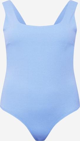 GLAMOROUS CURVE Shirtbody in Blau