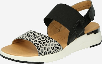 CAPRICE Sandale in hellgrau / dunkelgrau / schwarz, Produktansicht