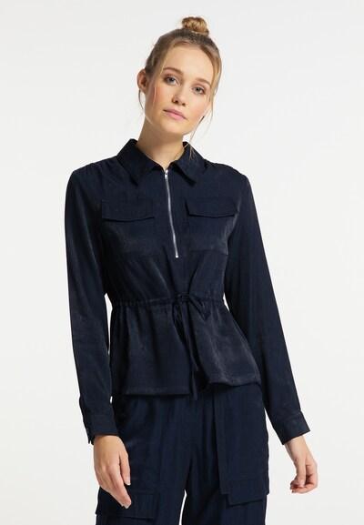 DreiMaster Vintage Bluse in dunkelblau, Modelansicht