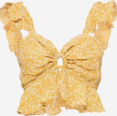Bardot Bluse in safran / weiß, Produktansicht